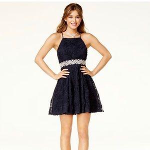 Trixxi short navy blue dress